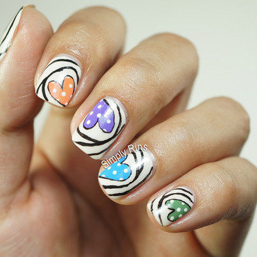 Heart Candies nail art by Rina Alcantara