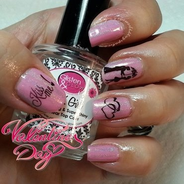 "Kiss Me In The Rain Nails ""Valentine"" nail art by Silje  Bannister"