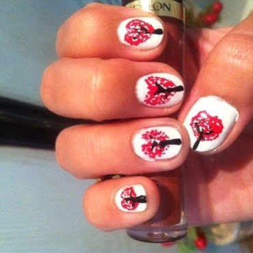 Love tree nail art by Ruchi