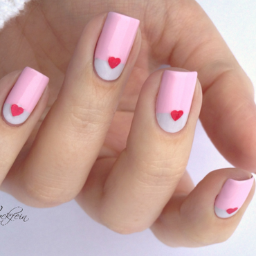 Valentine nail art by lackfein
