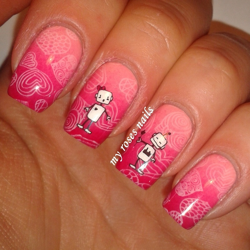 He is just adore her nail art by Ewa