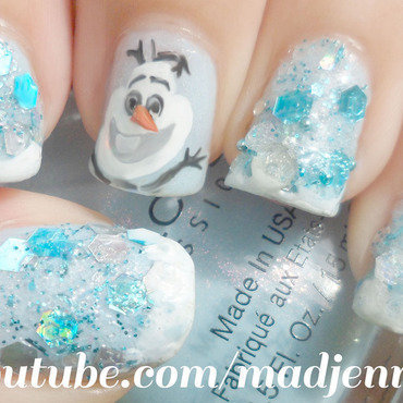 Frozen olaf nails2 thumb370f