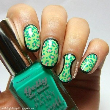 Bold Leopard Print Nails nail art by Kizzy
