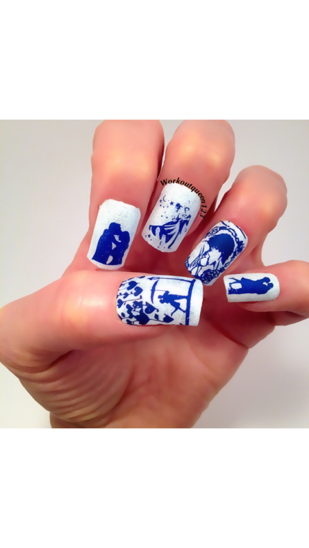 Happy Valentines Day nail art by Workoutqueen123