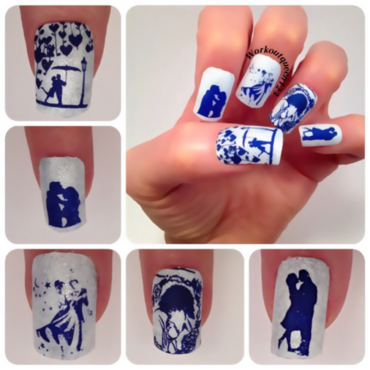 Love (see previous post for details) nail art by Workoutqueen123