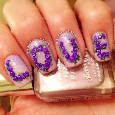 Love nail art nail art by Sarah Bellwood