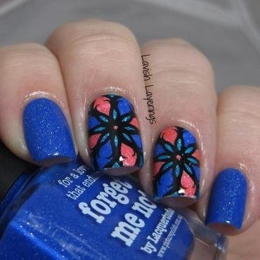 Stained Glass Stamp Decals nail art by Lavish Layerings