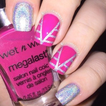 Holographic Striping Tape Mani! nail art by PolishIsSweet
