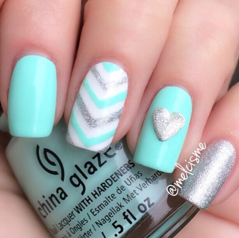 My Vday nails nail art by Melissa