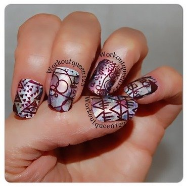 Shapes and lines nail art by Workoutqueen123