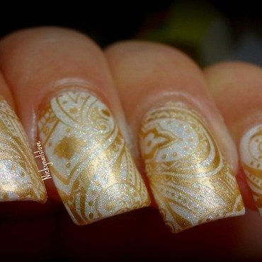 Saree Print nail art by Nicky