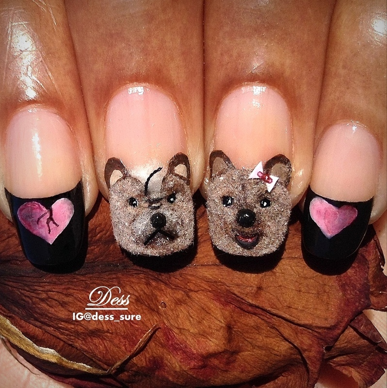 Unreciprocated Love nail art by Dess_sure