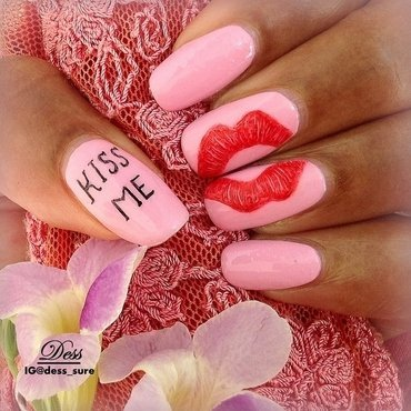 Kiss  nail art by Dess_sure