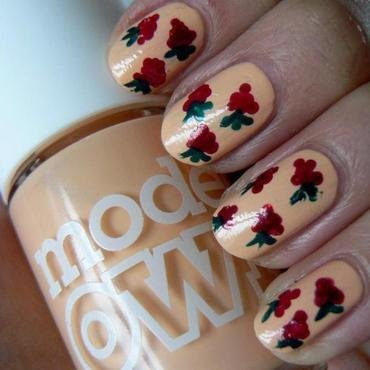 Raspberries nail art by Aysha Baig