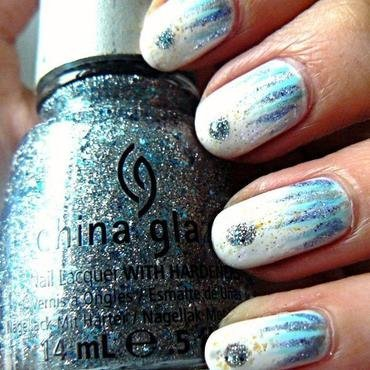 Snow Queen Waterfall nail art by Aysha Baig