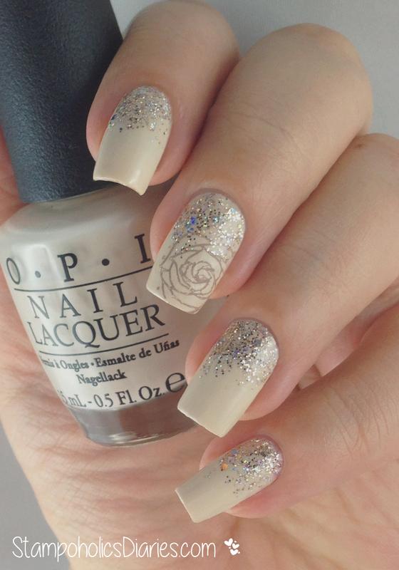Rose Nails  nail art by Natasha