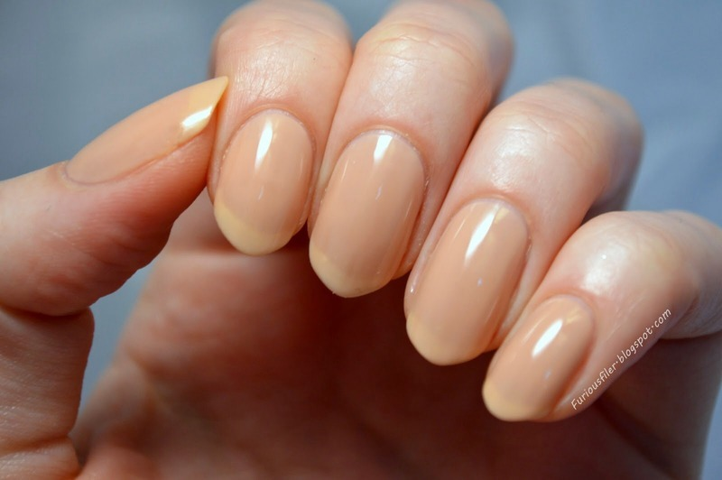 OPI Nude Nail Envy Swatch by Furious Filer