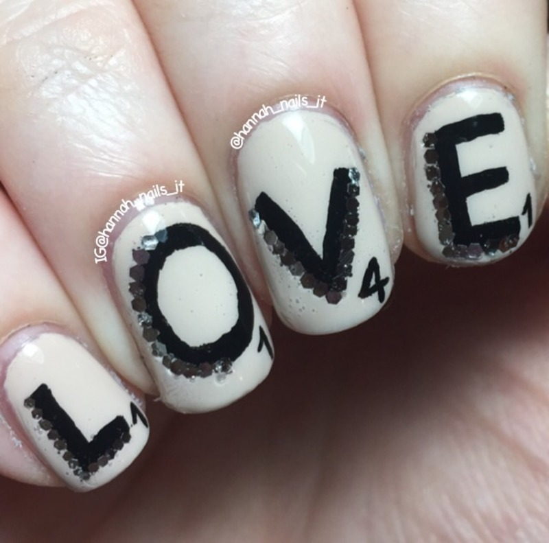 Spell it out nail art by Hannah