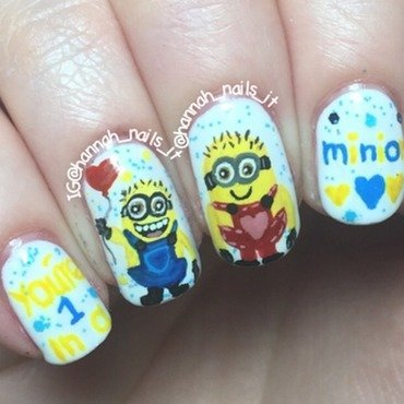 One in a Minion nail art by Hannah