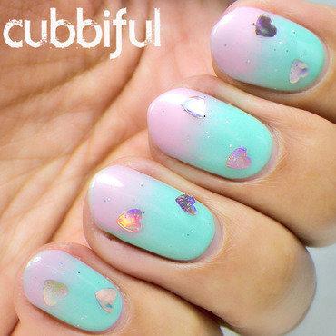 Gradient valentines nails thumb370f