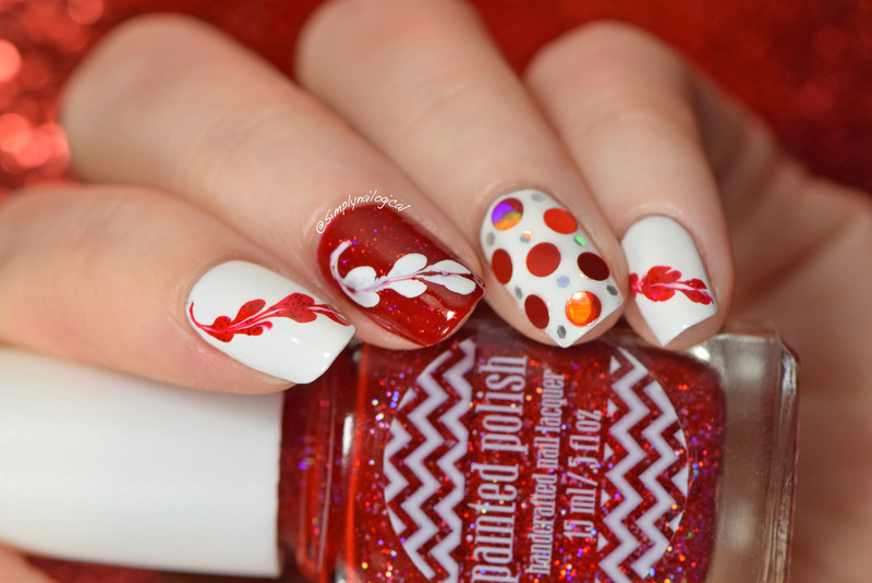 Valentine's drag marble hearts nail art by simplynailogical