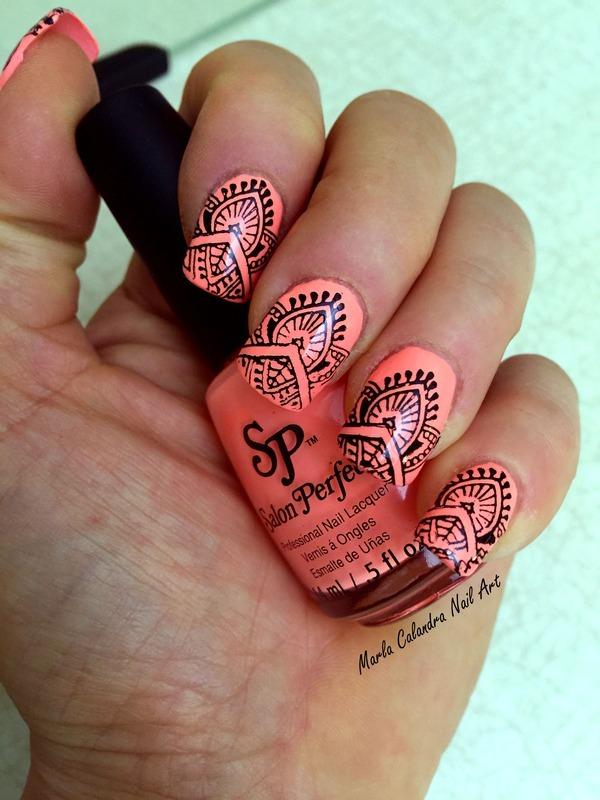 TRIBAL nail art by Marla Calandra
