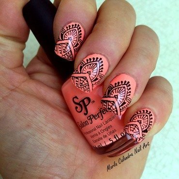TRIBAL nail art by Marla Calandra
