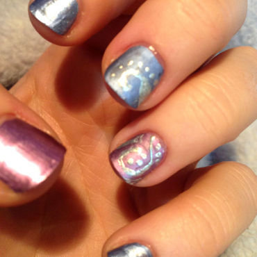 Matte Chrome art nail art by Rachel Dashwood