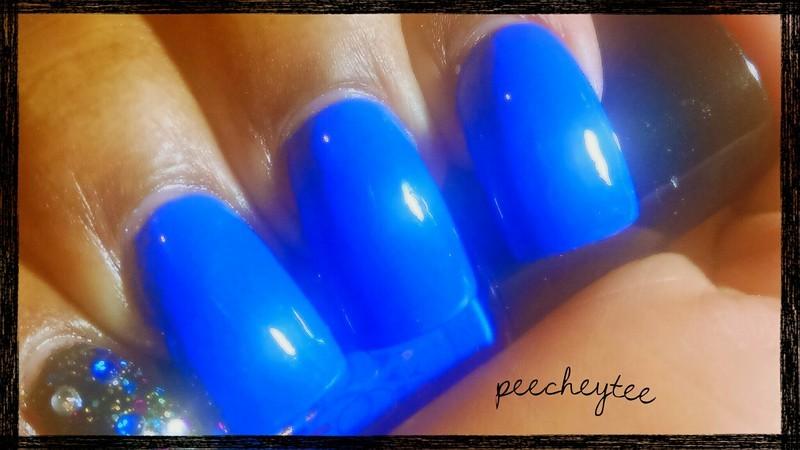 Revlon Colorstay Blue bombshell Swatch by peecheytee