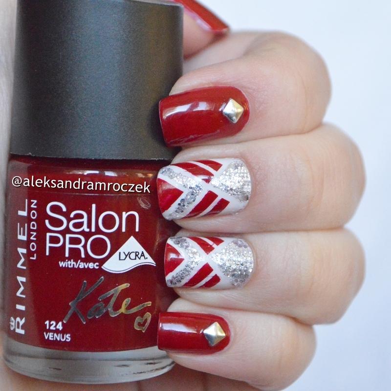 red madness nail art by Aleksandra Mroczek