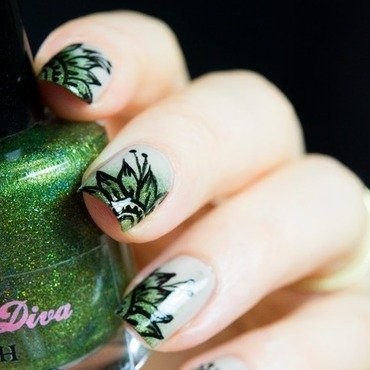 Asian flowers nail art 2 thumb370f