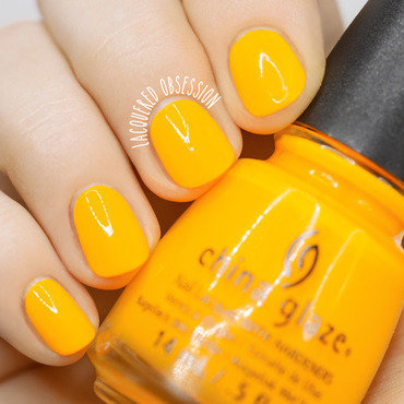 China Glaze Sun Worshiper Swatch by Lacquered Obsession