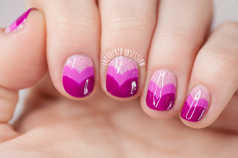 Heart fishtail gradient nails nail art by Lacquered Obsession
