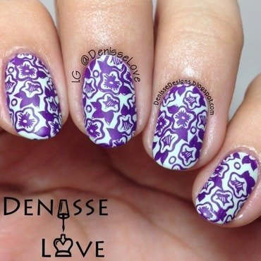 Floral Work nail art by Denisse Love