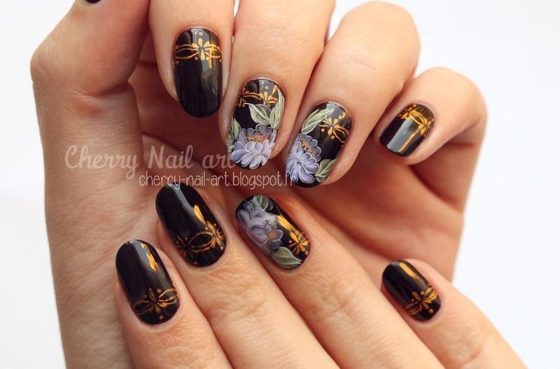 Zhostovo Nail Art And Swatches Nailpolis Museum Of Nail Art