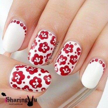 🌸 simple flower 🌸 nail art by SharingVu
