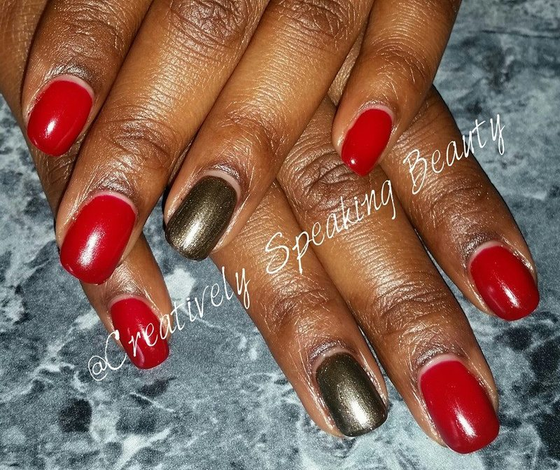 Cnd Shellac Decadence and Cnd Shellac Night Glimmer Swatch by Kewani Granville