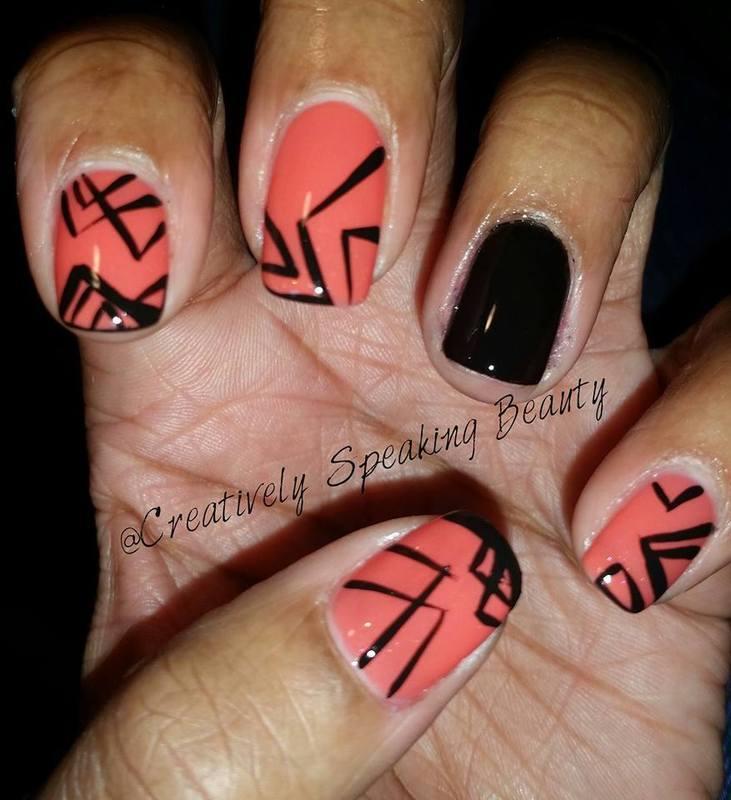 Tribal nail art by Kewani Granville