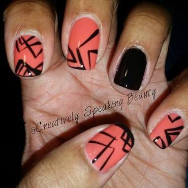 Tribal nail art by Kewani Granville
