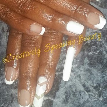 All White Everything nail art by Kewani Granville