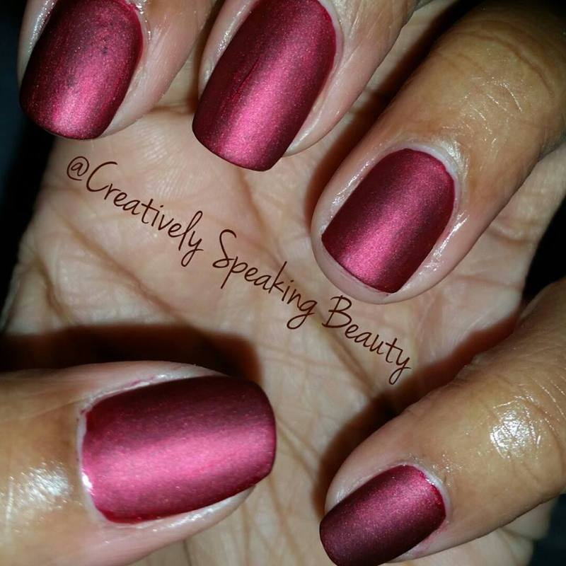 China Glaze Long kiss and OPI Matte Topcoat Swatch by Kewani Granville