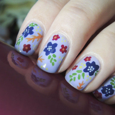 Flowers nail art by Magdalena