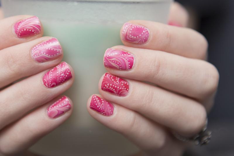 Marbletines nail art by Magdalena