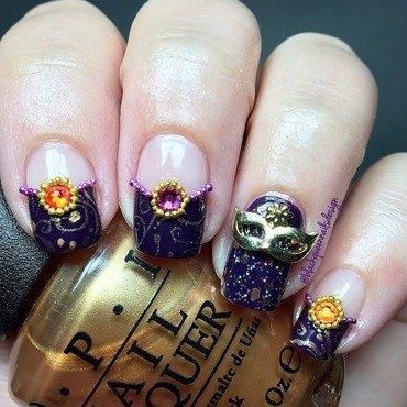 Carnival Mani  nail art by Blackqueennailsdesign