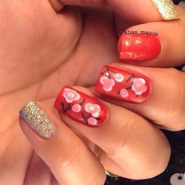 Chinese New Year  nail art by anas_manis