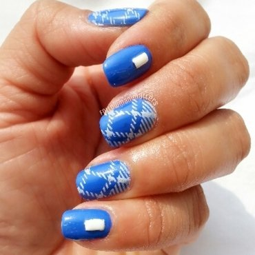 Plaid nail art nail art by Manisha Manimatters