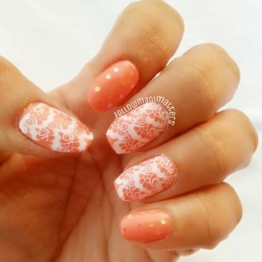 Lace Nail art nail art by Manisha Manimatters