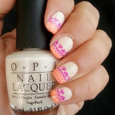 Neon Sweater Nails nail art by Manisha Manimatters