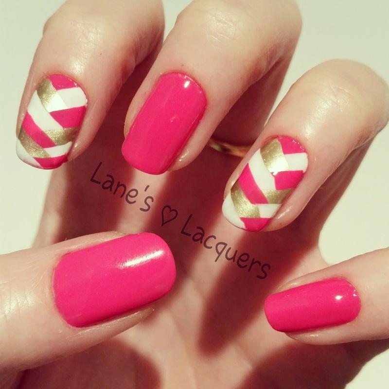 Fishtail Braids nail art by Rebecca