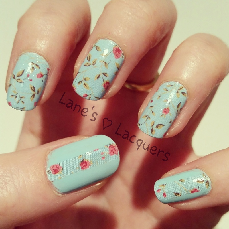 Cath Kidston Florals nail art by Rebecca